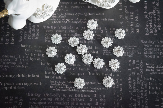 Rhinestone embellishments, craft supplies