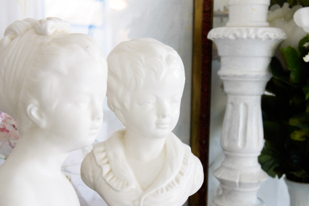 Napcoware Pair Boy and Girl Busts