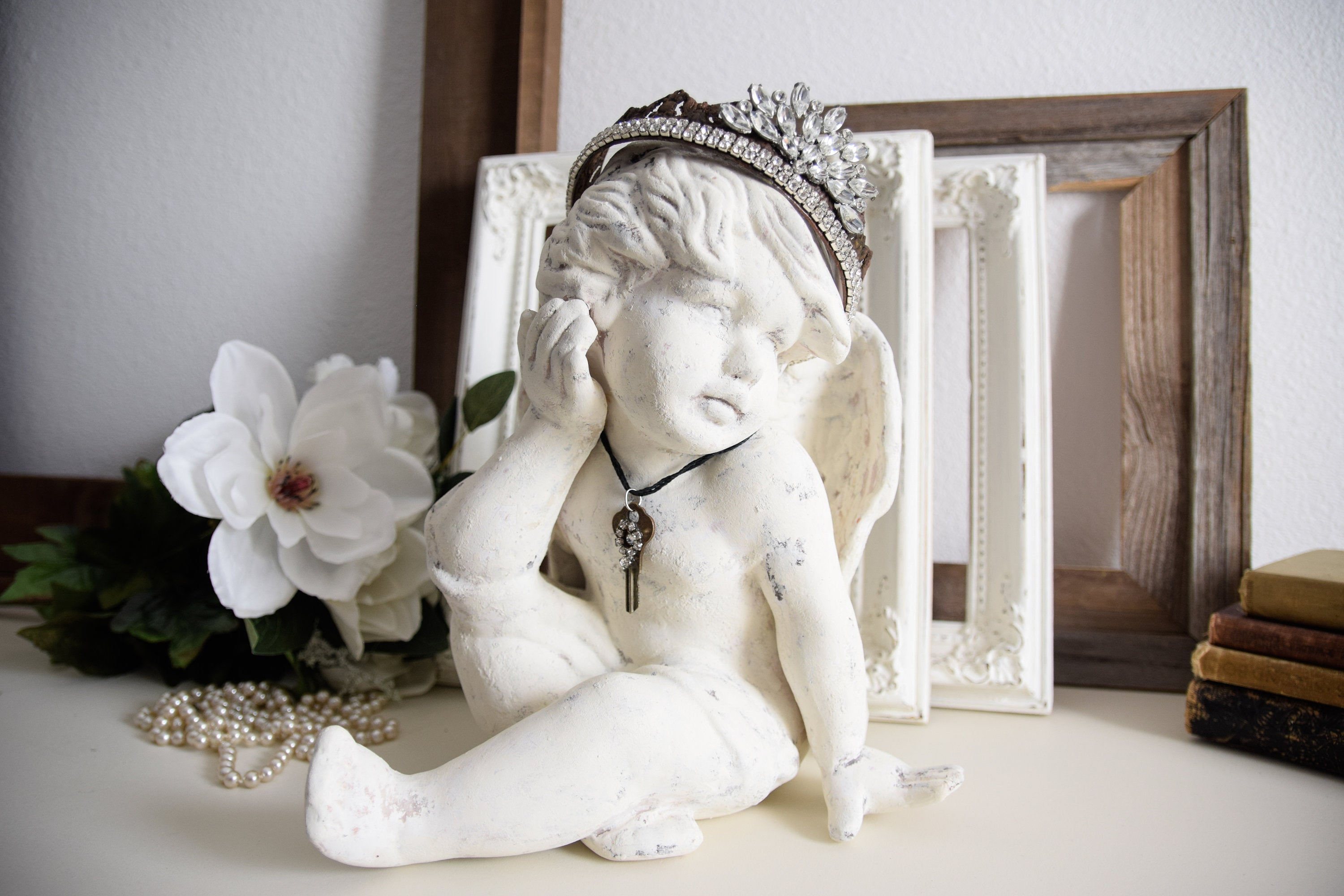 Handcrafted French chic baby Angel