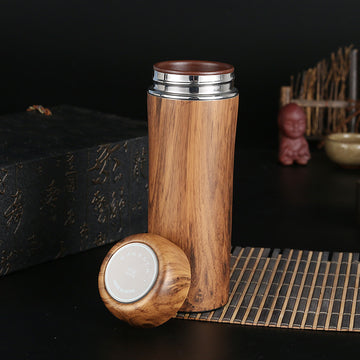350ml Wooden Custom Coffee Thermos
