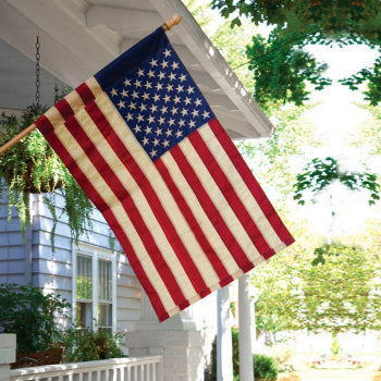 BURLAP AMERICAN FLAG - Simply Devine Gifts and Decor