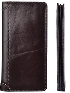 Kings Vintage Genuine Leather Long Wallets Bifold Wallet