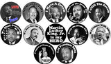 "12pc MARTIN LUTHER KING JR 1.25"" Pins"