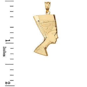 Rose Gold Egyptian Queen Nefertiti Pendant& Necklace