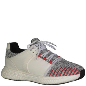 White Grey Red Designer Sneakers