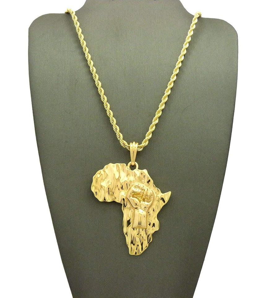 Godly  Gold African Pendant & Chain Set