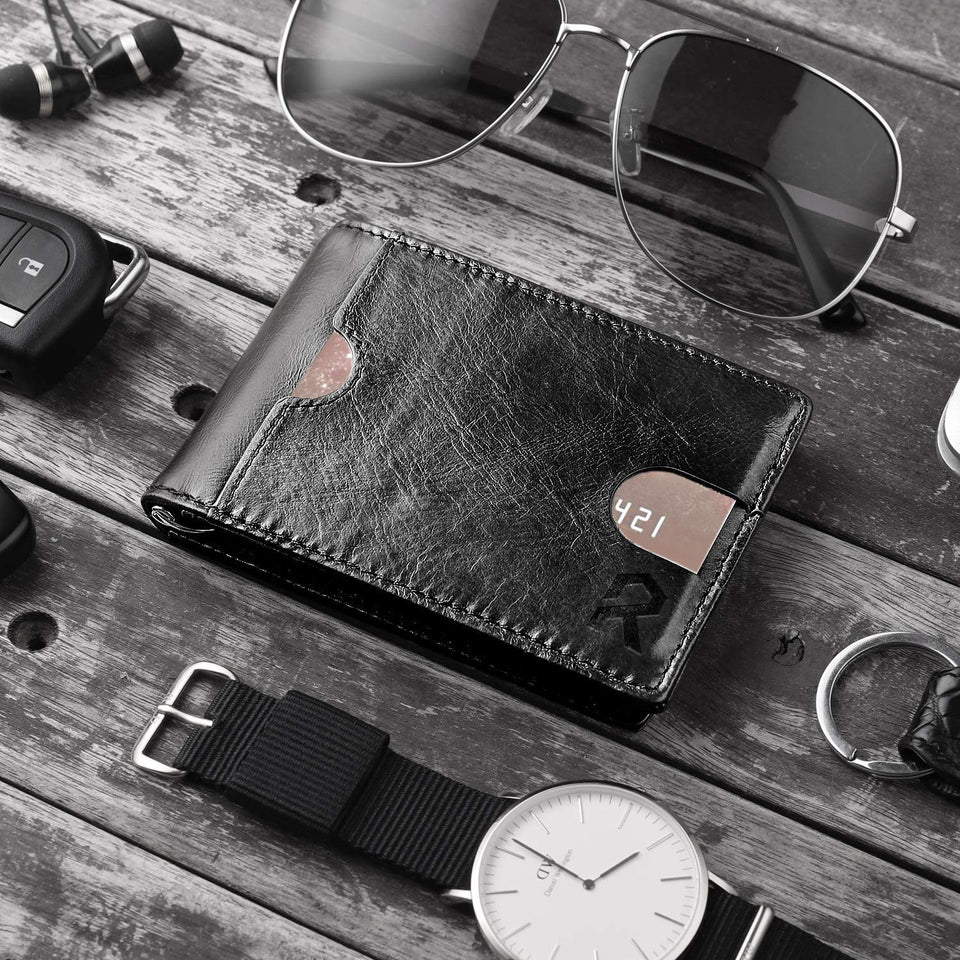 The Minimalist Leather Wallet With Clip and RFID Blocking Technology