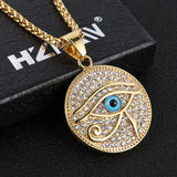 18k Gold Plated Iced Out Eye of Horus Egypt