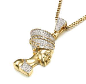 !SALE Nefertiti Diamond pendant with chain