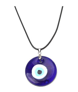 Evil Eye Leather Rope Necklace