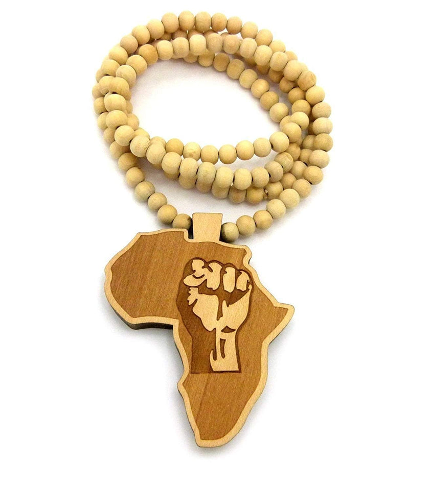 Africa Black Fist Necklace Pendant