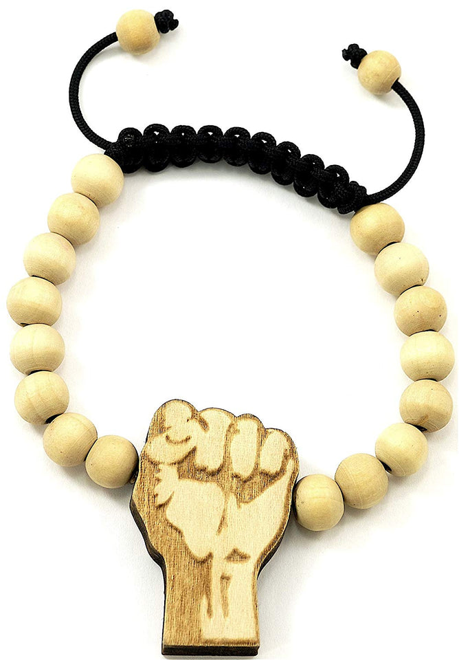 Black Power Fist Bracelet