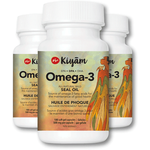 Pure, Sustainable, Wild-Hunted Omega-3 Seal Oil with DPA 100% Natural Ingredients 3 Bottles (Save 10%)