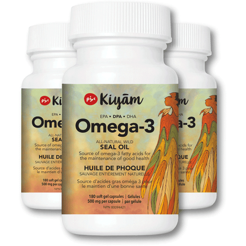 Online Special - Pure, Sustainable, Wild-Hunted Omega-3 Seal Oil with DPA 100% Natural Ingredients 3 Bottles (Save 33%)