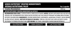 CREATINE 60 mega caps/30 serv