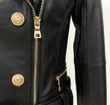 Load image into Gallery viewer, Black Leather Jacket
