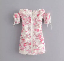 Load image into Gallery viewer, PRE-ORDER KATIA Pink Floral Ruched Dress