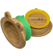 Spill-Free, Natural Bamboo Kids Bowl with Suction and Spoon Set - Two Pack (FREE SHIPPING)
