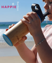 Natural Bamboo / Stainless Steel Drink Bottle - Tea Tumbler 350ml (3 Different Colours)