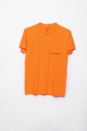 ALL DAY INDUSTRIES LOGO SHIRT - (Power Orange)