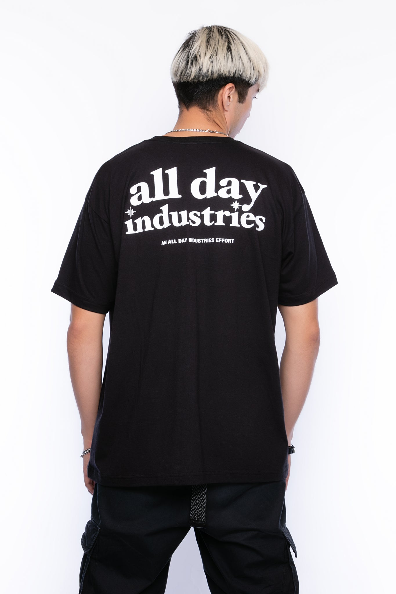 ALL DAY INDUSTRIES LOGO SHIRT - (Pitch Black)