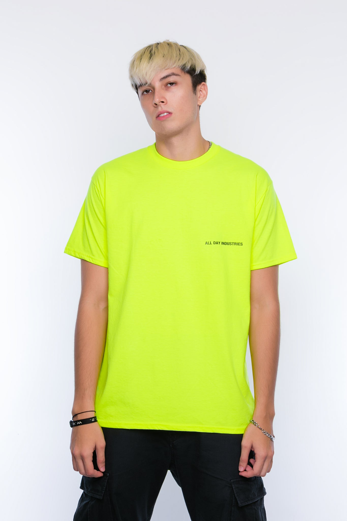 ALL DAY INDUSTRIES LOGO SHIRT - (Galaxy Green)