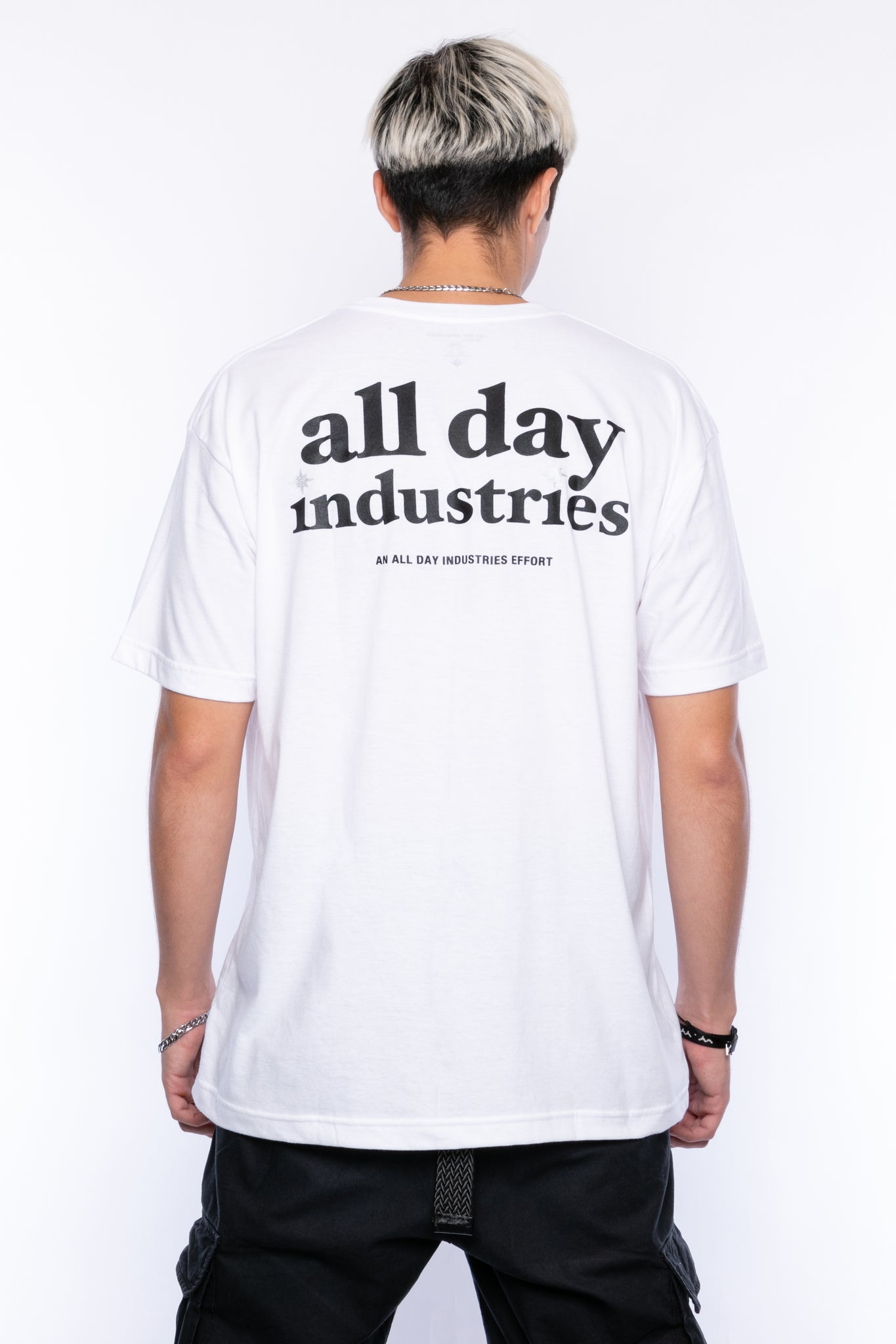 ALL DAY INDUSTRIES LOGO SHIRT - (Powder White)