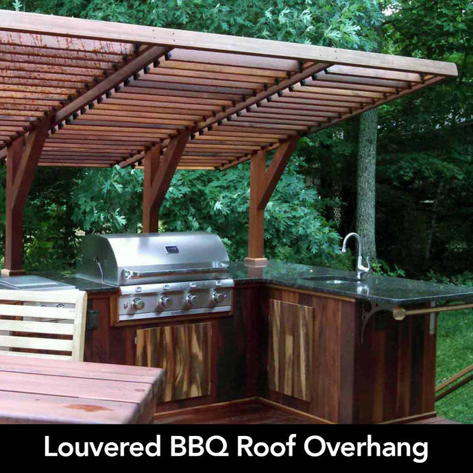 Louvered BBQ Enclosure