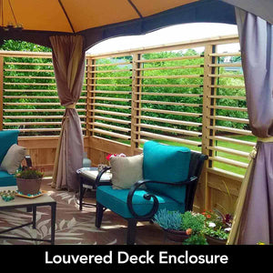 Louvered Hot Tub Deck Enclosure
