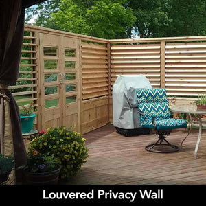 Louvered Privacy Wall