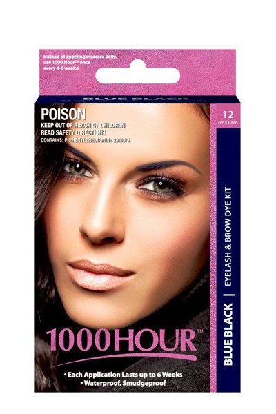 1000 Hour Blue Black Eyelash & Brow Dye Kit