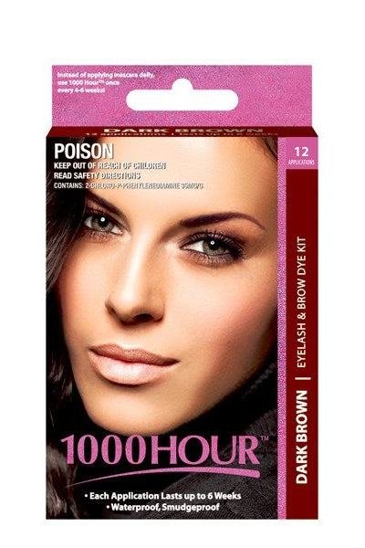 1000 Hour Dark Brown Eyelash & Brow Dye Kit