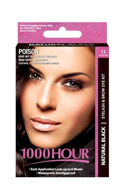 1000 Hour Natural Black Eyelash & Brow Dye Kit
