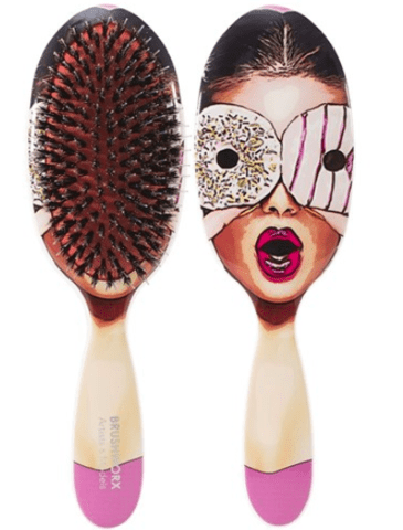Brushworx Artists and Models Oval Cushion Hair Brush - Sugar Baby