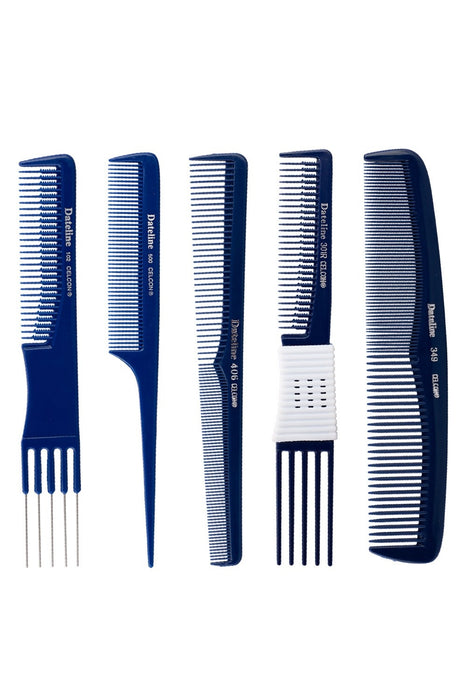 Blue Celcon 510 Metal Tail Comb
