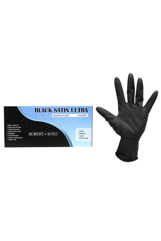 Robert De Soto Black Satin Ultra Reusable Gloves