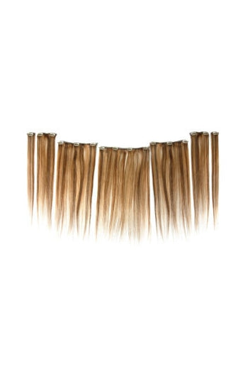 "Showpony 7 Piece Clip In 20"" Human Hair Highlights"