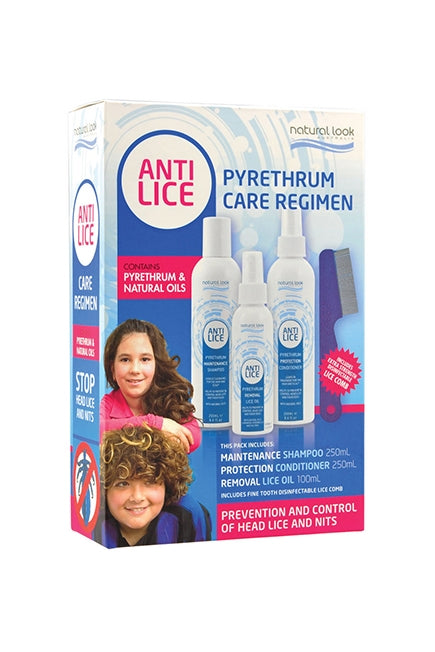 Natural Look Anti-Lice Pyrethrum Care Regimen Treatment Pack