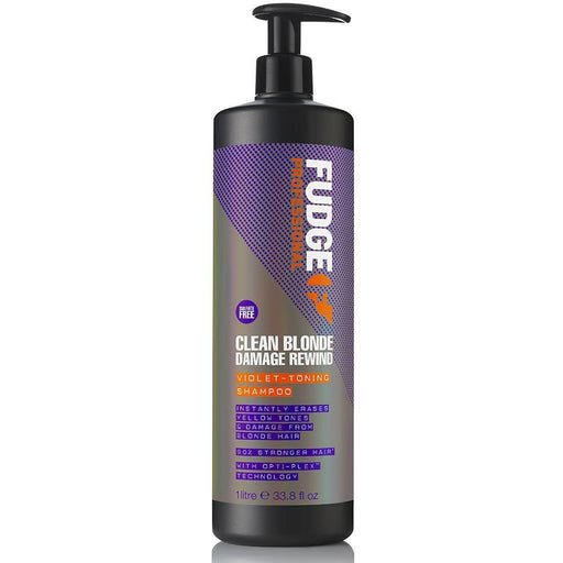 Fudge Clean Blonde Damage Rewind Violet Toning Shampoo