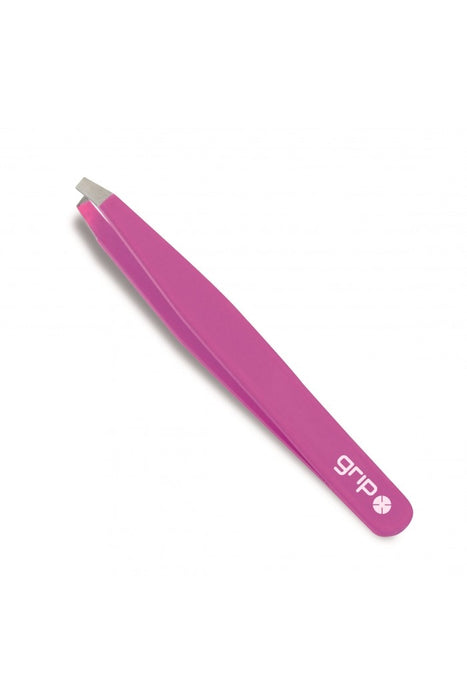 Caron Grip Slanted Tweezer Bright Pink