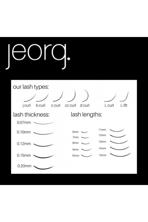 Jeorg. Ellipse Lash Mixed Tray CC Curl 9-14mm