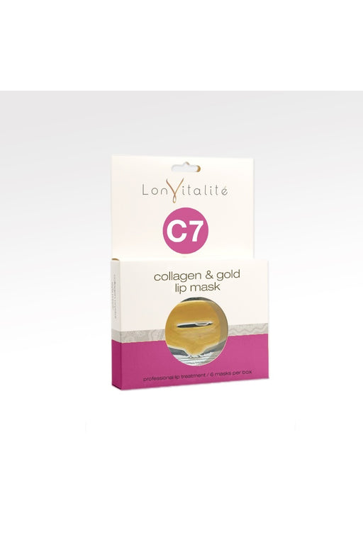 Lonvitalite C7 Collagen & 24K Gold Lip Mask 6pk
