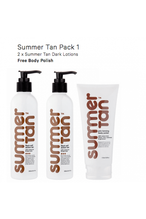 Summer Tan Self Tanning Lotion Dark Christmas Pack