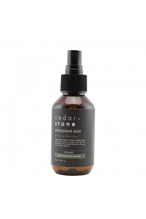 Cedar + Stone Man Aftershave Mist Tea Tree & Witch Hazel