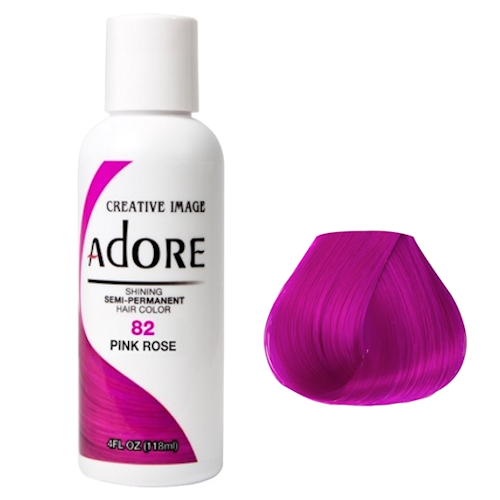 Adore Semi Permanent Hair Colour Pink Rose