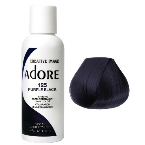 Adore Semi Permanent Hair Colour Purple Black