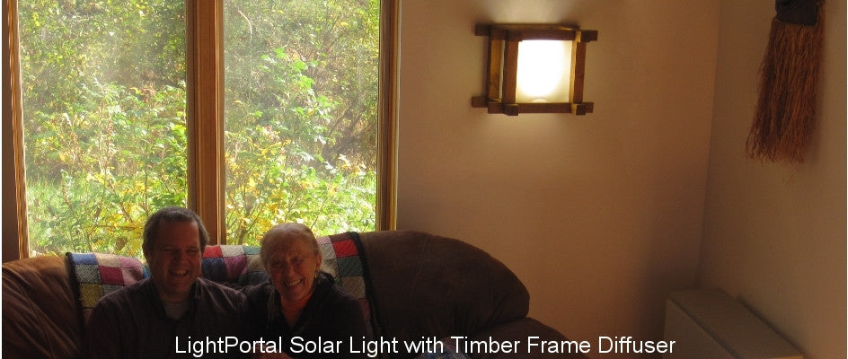 LightPortal Solar Light with Timber Frame Diffuser
