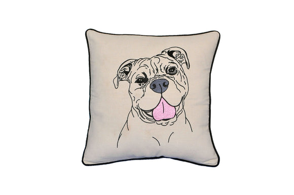 AMERICAN BULL DOG PILLOW