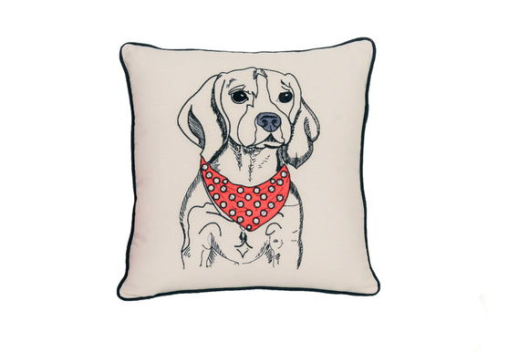 BEAGLE PORTRAIT DOG PILLOW