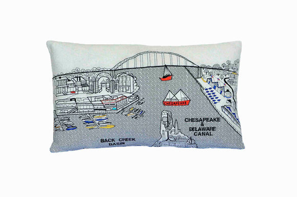 Chesapeake City Pillow